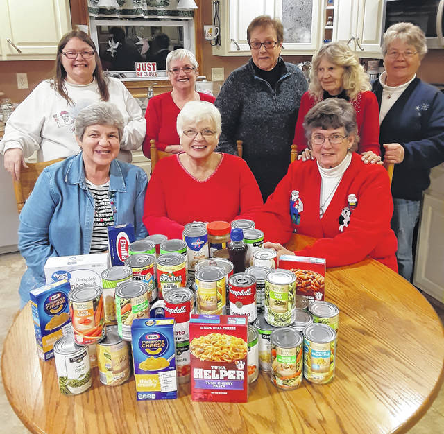 Courtesy photo The Crazy 8's Card Club recently collected non perishable food items instead of exchanging Christmas gifts. The food will be donated to Cooperative Christian Services of Galion (CCSG) food pantry. If anyone would like to donate to the pantry contact Rena Lovely at 419-468-7719.