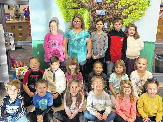 Courtesy photo  Galion Primary School winners are: Winston Pensinger, Atlas Gorka, Carrigan Foster, Audrey Gerber, Morgan Barnett, Marissa Shipman, Haylee Brown, Bekah Baldwin, Lillyauna Huddlestun, Jayda Haferd, Chance Kentosh, Brentley Price, Brody Pridemore, Madison Nichols, Shy'Ann Conkle, Kaylee Jenkins and Megan Bailey.
