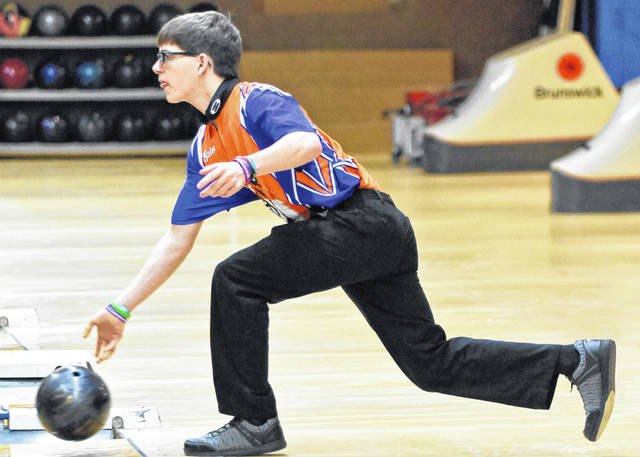 Photo by Don Tudor Galion's boys bowling team knocked off Shelby in MOAC action Thursday at Victory Lanes in Galion.