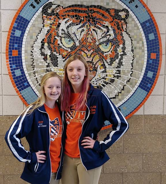 Courtesy photo Galion High School sophomore Troie Grubbs and junior Kaisey Speck are swimming today and Friday in the state swim meet at Canton McKinley High School.