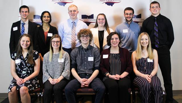 Courtesy photo These students were honored recently at a program recognizing Franklin B. Walter Scholarship winners: Vincent Demski, Crestline; Bruce Jordan, Highland; Susan Grube, Plymouth-Shiloh; Brooklyn Campbell, Crestview; Caleb Strack, Galion; Maskin Sidhu, Lexington; Grace Stupka, Madison; Taylor Grossenbacher, Lucas; Addyson Van Houton, Mansfield; Juliana DiTullio, Northmor; and Carson Heinlen, Pioneer.