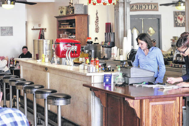 File photo Bistro 217 in Galion is one of many businesses already feeling the pinch from Sunday's ban in Ohio of sit-down service.