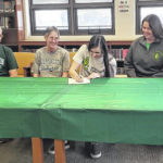 Northmor's Leslie Brubaker signs to play college volleyball at Wilmington College