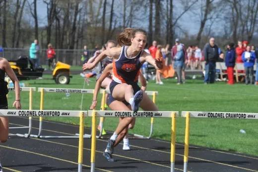 File photo Galion High School senior Kerrigan Myers, who won the state 100-meter hurdles, last year in Columbus, may yet get a chance to defend that championship. The OHSAA released a tentative sports sports schedule this week. All spring sports seasons would begin May 9 and extend well into June.