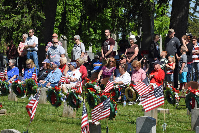 File photo Galion Memorial Day activities have been cancelled for 2020 due to safety concerns related to the COVID-19 pandemic. This photo is from last year's program at Fairview Cemetery.