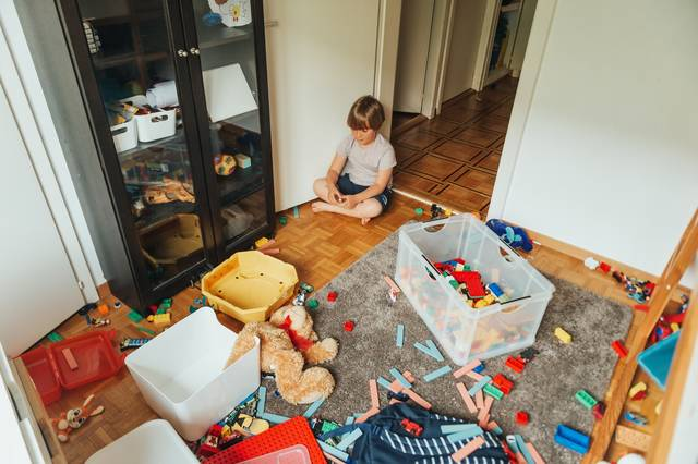 AnnaNahabed/iStock via Getty Images Plus Decluttering play areas pays off, giving kids more opportunities to play and learn safely.