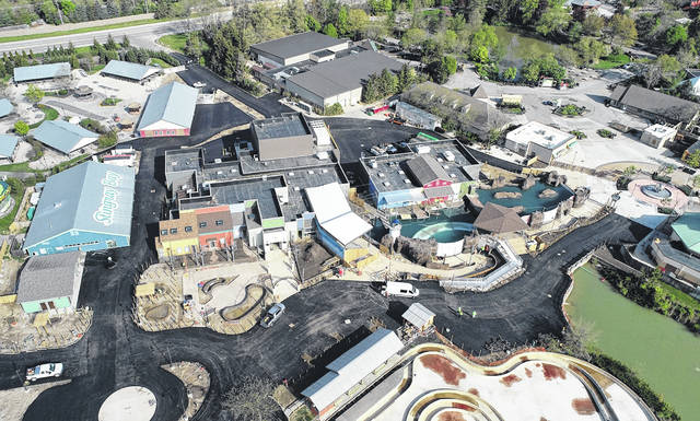 Grahm S. Jones | Columbus Zoo and Aquarium An aerial look at the Columbus Zoo and Aquarium's newest region — Adventure Cover, which will open this summer