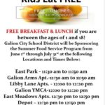 Galion free lunch program continues through July 31