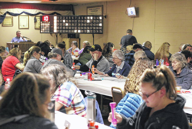 File photo| Galion Inquirer Bingo at the Galion American Legion, 118 S. Market St., resumes next Thursday, June 18. This photo is from a year ago, and social distancing guidelines will change the way players and games are set up are situated. Doors open at 4 p.m., an early-bird game is at 6 p.m. and regular games start at 6:30 p.m. Players are asked to bring their own hand sanitizer and face masks.