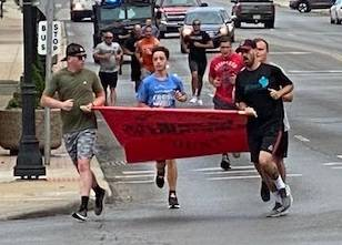 Courtesy photo The Special Olympics Ohio Summer Games have been canceled, but that didn't stop the Mansfield Police Department from having their annual Torch Run to support the athletes in Richland County.