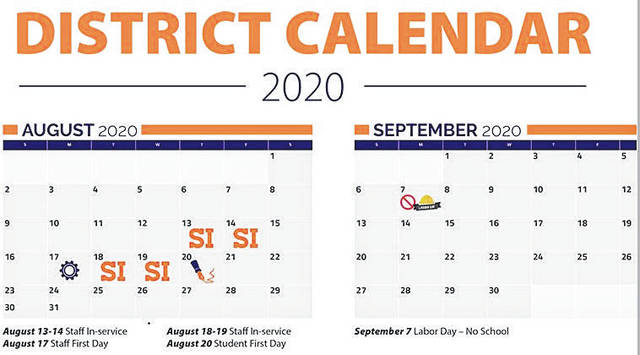 Courtesy photo Galion's school board OK a change in the school calendar. The first day of classes will be Aug. 20. The district also added two professional development days on Aug. 18, 19.