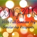 Fall Pry scholarship winners announced