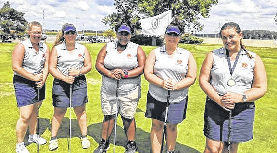 Galion's girls golf team was eight at the Tiffin Invitational. Pictured, and their scores were team medalist Julia Conner with a 102 (50 & 52); Missy Vonhoupe 121 (64-57); Ava Neidermier 126 (68-58); Ellexia Ratcliff 128 (59-69) and Izzie Willacker 137 (73-64).