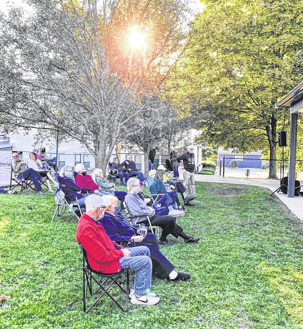 Photo by Jodi Myers Sunshine and cool weather greeted area residents Sunday night at First United Church of Christ in Galion for the finale of summer concert series presented by Preserving Galion, Inc. Mansfield's Shawshank Big Band entertained.