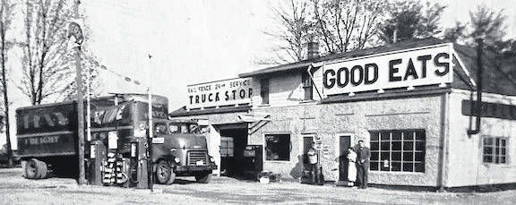 Courtesy photo  Rail Fence Truck Stop, 3 miles southwest of Johnsville on State Route 42; taken in 1949.