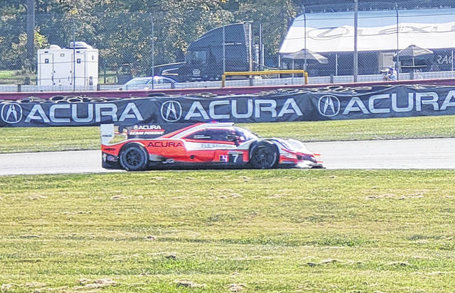 The car driven by the duo of Ricky Taylor and Helio Castroneves picked up a first place finish in the IMSA WeatherTech Challenge at Mid-Ohio Sports Car Course on Sunday to cap off a weekend full of racing at the Morrow County road course.