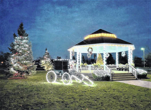 The Central Park Gazebo in Crestline is decorated and lit up for the holiday season despite the cancellation of Crestline Winterfest and other holiday activities in the village. The Crestline Community Development Team is sponsoring the Santa Parade on Saturday, Dec. 5. It will begin at 4 p.m. For information or to register a unit in the parade, contact Emily Langdon at 567-303-5474 or Josh Crosswhite at 419-569-8704.