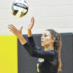 Northmor volleyball coach, players honored