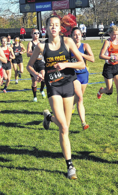 Colonel Crawford was led by Cecilia Chase as they finished ninth in the Division III girls' state cross country meet on Saturday.