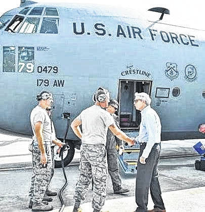 Ohio Sen. Rob Portman visited the 179th Airlift Wing in 2017.