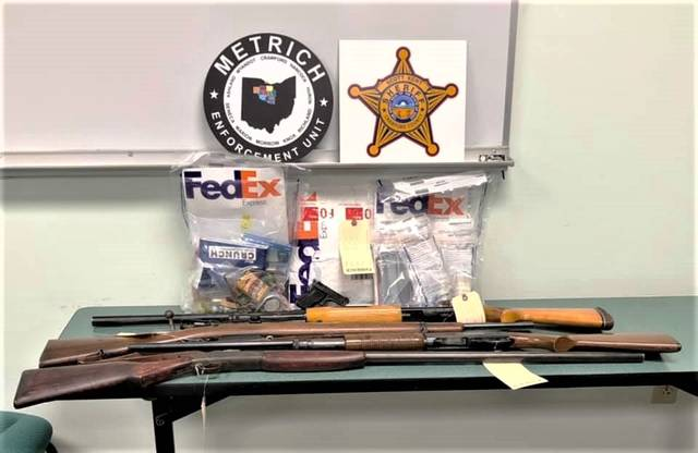 Crawford County law enforcement agents seized suspected drugs and firearms from a residence at 916 Park Road in Crestline during a raid executed on Tuesday, Dec. 8, 2020. Officers arrested David Fuson, 56, Crestline. Charges are pending against him.