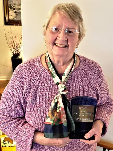 Judi Saurers of Crestline is the 2020 recipient of the Spirit of Philanthropy Award presented by The Community Foundation for Crawford County.