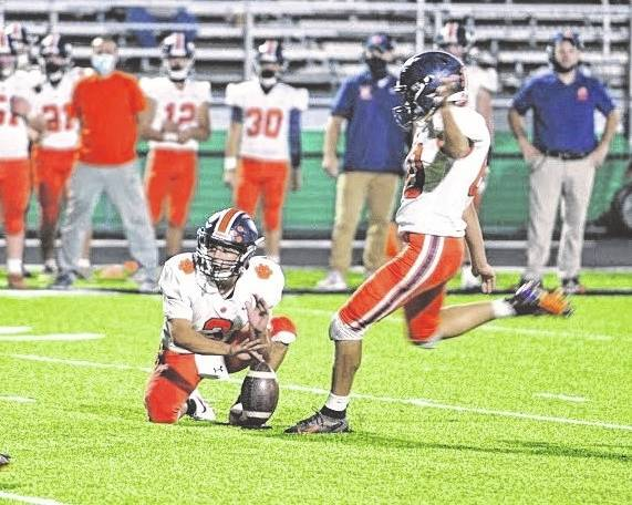 Galion placekicker Dominic Pittman, shown playing against Clear Fork, and defensive lineman Brayden Eckels were voted first-team All-Ohio in Division IV following the 2020 season. There were among 13 players from the Mid Ohio Athletic Conference voted to All-Ohio football teams in 2020.