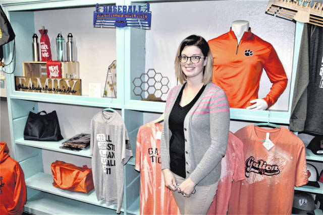 """Brandy Bowser is the owner and operator of This That and the Other located at 107 Harding Way East in Galion. She opened the store in November 2019 and recently celebrated one year in business. Bowser said while this year has been difficult at times due to the coronavirus pandemic, she is """"making due"""" and the store is doing well. She said spirit wear is the top seller at This That and the Other."""