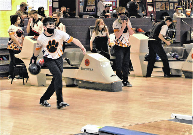 Galion faced Mid Ohio Athletic Conference rival Marion Harding in a bowling matchup on Wednesday, Jan. 13, 2021, at Victory Lanes in Galion. The Lady Tigers won the girls contest by a pin count of 1,744 to 1,465. The Presidents captured the boys match by a score of 2,405 to 1,725.