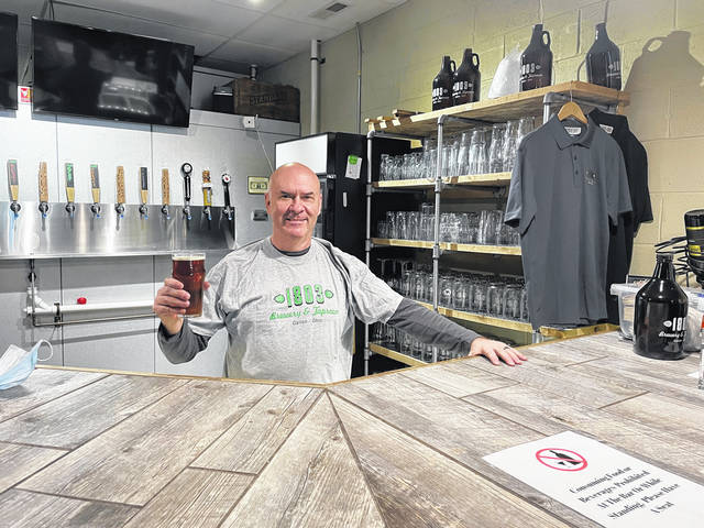 John Bassett, owner of 1803 Brewery & Taproom in Galion, said while state restrictions related to the COVID-19 pandemic have hurt his business tremendously, the facility is still open and operating at its 123 Harding Way East location. He said he's had to make several adjustments to keep the business going and is grateful for grant funding he received from the Galon-Crestline Area Chamber of Commerce.