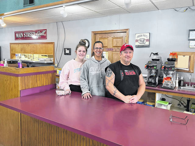 "Main Street Grill in Crestline is one of 177 Crawford County businesses that received a COVID-19 relief grant through the Galion-Crestline Area and Bucyrus Area chambers of commerce small business relief program. The restaurant received $7,000, whch manager Julie Rhodes called ""a big relief."" Pictured from left to right are Main Street Grill employee Alexis Forwith, manager Julie Rhodes, and Rod Nalley, kitchen manager and cook."