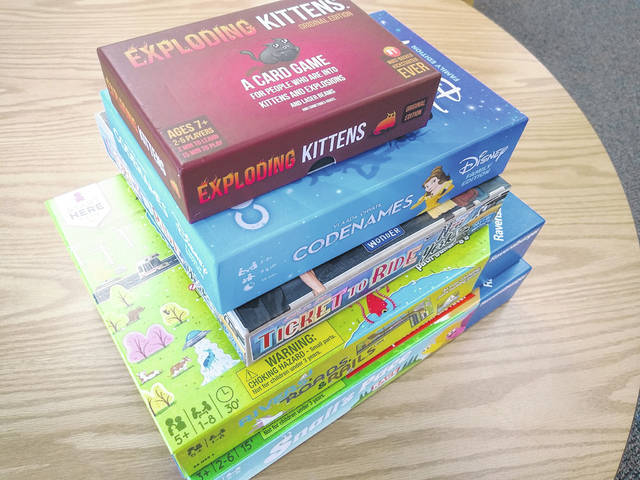 Games are now available to check out at the Galion Public Library. For information, call 419-468-3203 or stop by the library from 9:30 a.m. to 6 p.m. Monday through Friday, and from 10:30 a.m. to 4 p.m. Saturday.