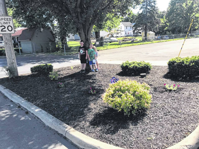 Volunteers from the Galion Primary/Intermediate PTO cleaned up this flower bed at Heise Park last summer. Pickle Run Festival organizers are once again seeking volunteers to help clean up Heise Park and other areas around the city for the 2021 event.