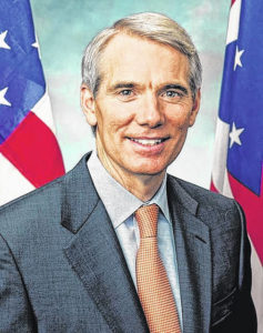 Portman received vaccine as part of trial