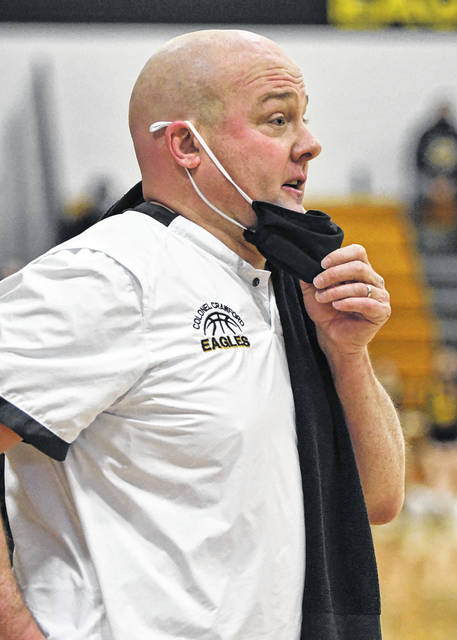 Colonel Crawford boys basketball coach David Sheldon is the 2020-2021 Division III Northwest District co-coach of the year after leading the Eagles to a 23-1 record. He shared the award with John Kurtz of Ashland Crestview.