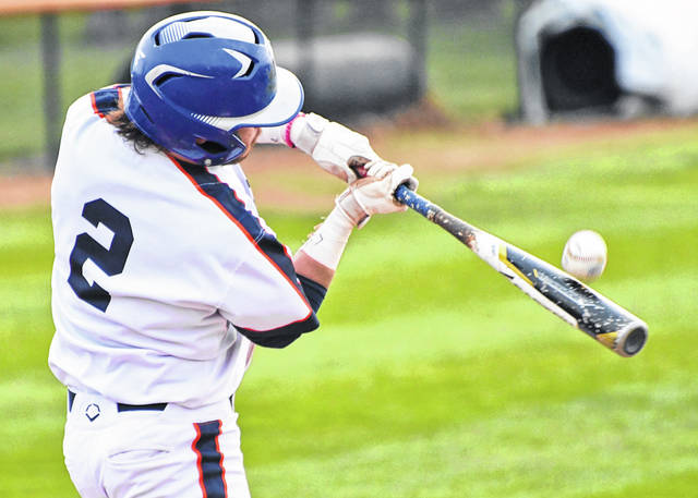 Galion's Spencer Keller takes a cut at the ball during the Tigers game against Shelby on Tuesday, April 20, 2021, at Heise Park. Shelby won the game, 9-2. Keller had two hits and scored a run for Galion.