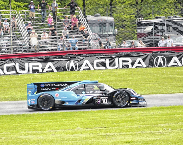 The car driven by Ricky Taylor and Filipe Albuquerque placed first in Sunday's IMSA WeatherTech Championship race hosted by Mid-Ohio Sports Car Course.