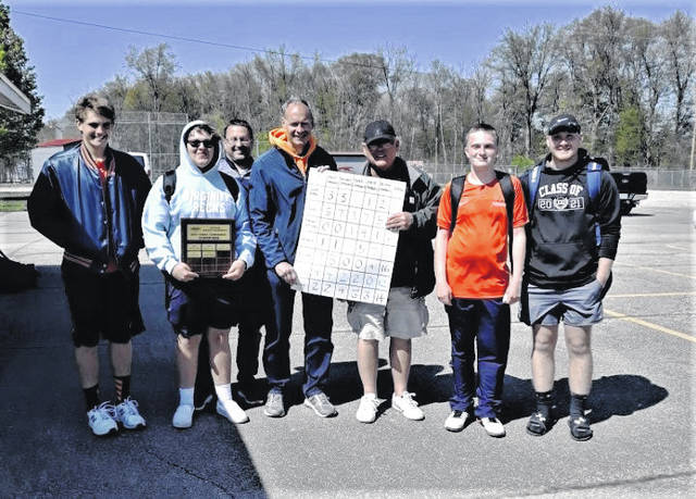 Members of the Galion High School boys tennis program were all smiles on Saturday, May 1, 2021, after capturing the Mid Ohio Athletic Conference team championship. Chris Amick won the No. 2 singles title. Matt Gimbel placed second at No. 1 singles. Adam Geiger finished fourth in the No. 3 singles tournament. It marks the first MOAC title for the Tigers boys tennis team, which is coached by Tom Pawsey, Terry Gribble, and Alan Conner.