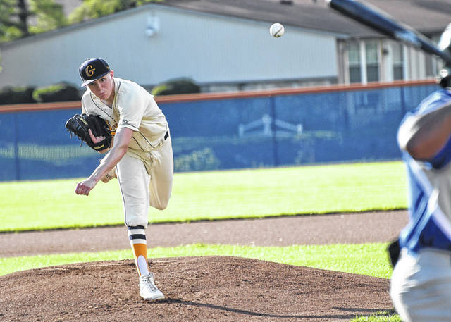 Galion's William Stultz unloads a pitch during the Graders game against Lima on Wednesday, June 9, 2021, at Heise Park. The Graders lost to the Locos, 6-3, and will travel to Lima on Saturday. Stultz worked 3-2/3 innings, gave up three runs (one earned) on five hits, and recorded three strikeouts and no walks.