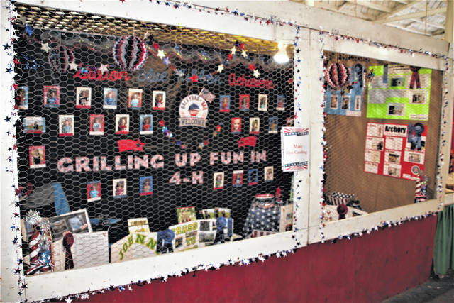 """The Galion Blue Ribbon Achievers 4-H Club received the Most Eye Catching award for their booth display at the 2021 Crawford County Junior Fair. The booth's theme for the 2021 fair was """"Grilling Up Fun in 4-H."""" The award was part of a good week for the club at this year's fair, according its advisors."""