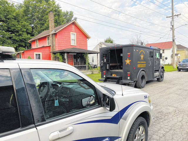 Agents from the Crawford County Special Response Team and METRICH raided an alleged drug operation at 317 Dawsett Avenue in Galion early Friday, July 23, 2021. One man was arrested.