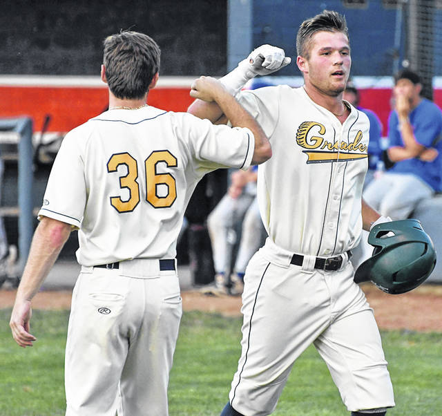 Galion Graders outfielder and pitcher Jay Luikart, right, and infielder Kaito Hara (not pictured) were chosen to represent the team in the 2021 Great Lakes League All-Star Game on Tuesday, July 21 in Mason, Ohio. They will be part of the North All-Star Team.