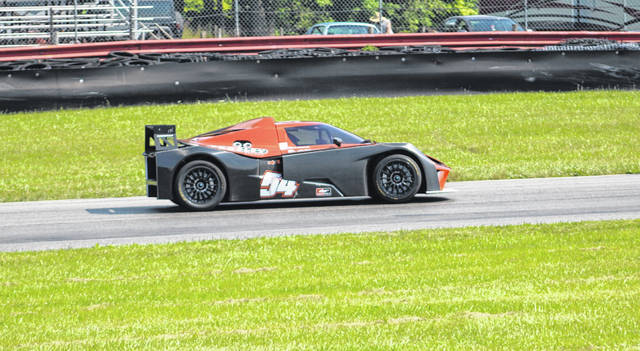 Scott Harrington heads around the track at Mid-Ohio Sports Car Course as part of its Vintage Grand Prix in late June.