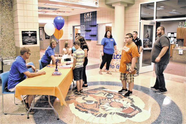 Students and their families visited the open house on Monday at Galion Middle School. Galion City Schools students will be back in the classroom for the 2021-2022 academic year beginning on Thursday. The district has posted its return and reset plan for the new school year on its website www.galionschools.org.