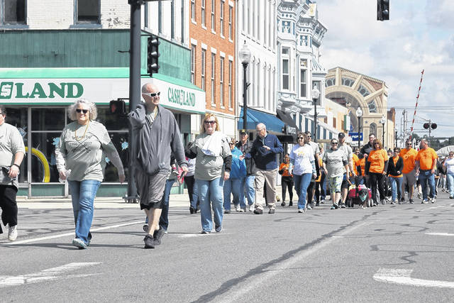 The 2021 Crawford County Suicide Prevention Walk is scheduled for Saturday, Sept. 18 in Galion, Crestline, and Bucyrus. This photo shows the 2019 event.