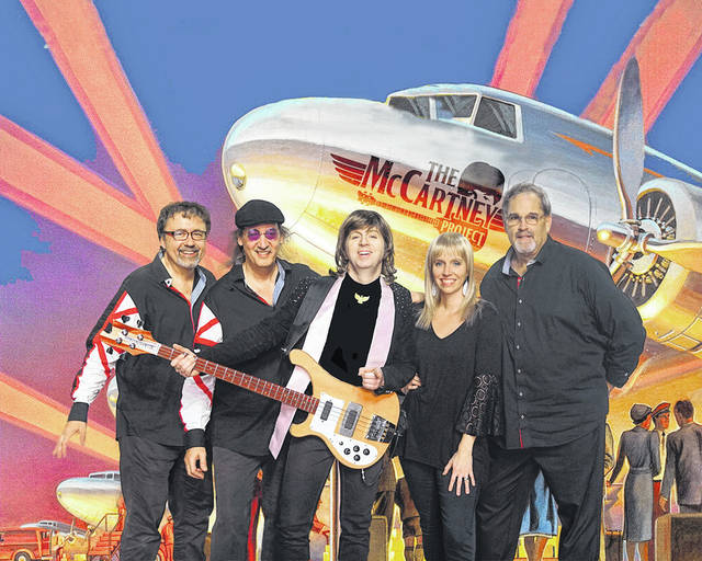 """The McCartney Project pays tribute to Paul McCartney and the music of Wings and The Beatles. The group will present """"The Ultimate McCartney Experience"""" on Friday, Aug. 27, at 7:30 p.m. on the Schnormeier Event Center stage at Ariel-Foundation Park in Mount Vernon."""