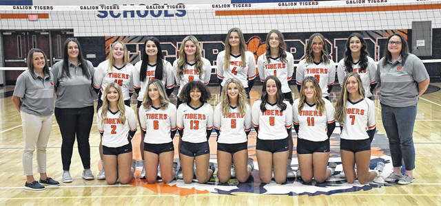 The 2021 Galion High School volleyball team begins its season on Tuesday, Aug. 24 at home against Bellevue. Match time is 6:30 p.m.