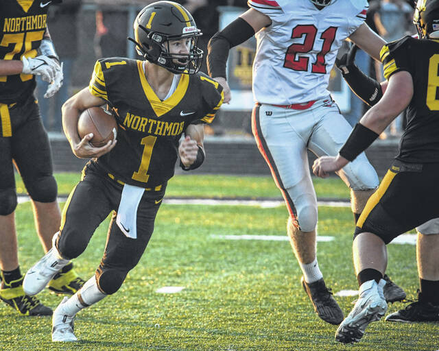 Marcus Cortez looks for running room in the first half against Fredericktown.