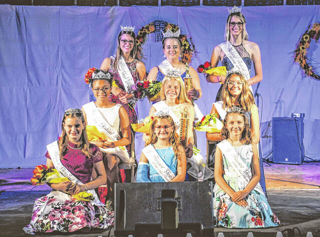 Crestline Harvest Festival royalty was crowned in ceremonies held Thursday, Sept. 16, 2021. The festival Queen for 2021 is Miya Kinn. Her attendants are Sheena Parsons (1st attendant) and Isabella Stang (2nd attendant). Brynn Bruner was crowned festival Princess. Her attendants are Zoie Lohr (1st attendant) and Kaitlyn Richardson (2nd attendant). Michaela Duda is the 2021 Little Miss Harvest Festival. Her attendants are Julia Schmipf (1st attendant) and Adylina Troiano (2nd attendant).