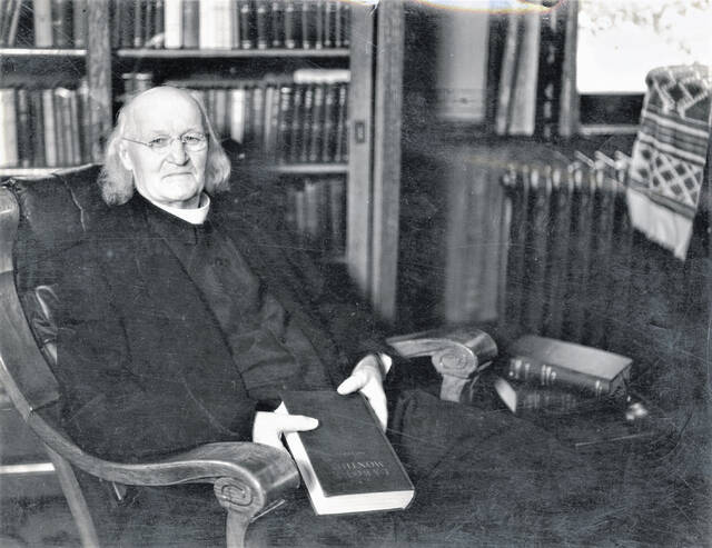 This photograph of Bishop Brown is very typical of the old gentleman, whom the people of Galion knew so well.